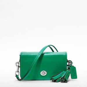 Coach Emerald Legacy Leather Penny Shoulder Purse